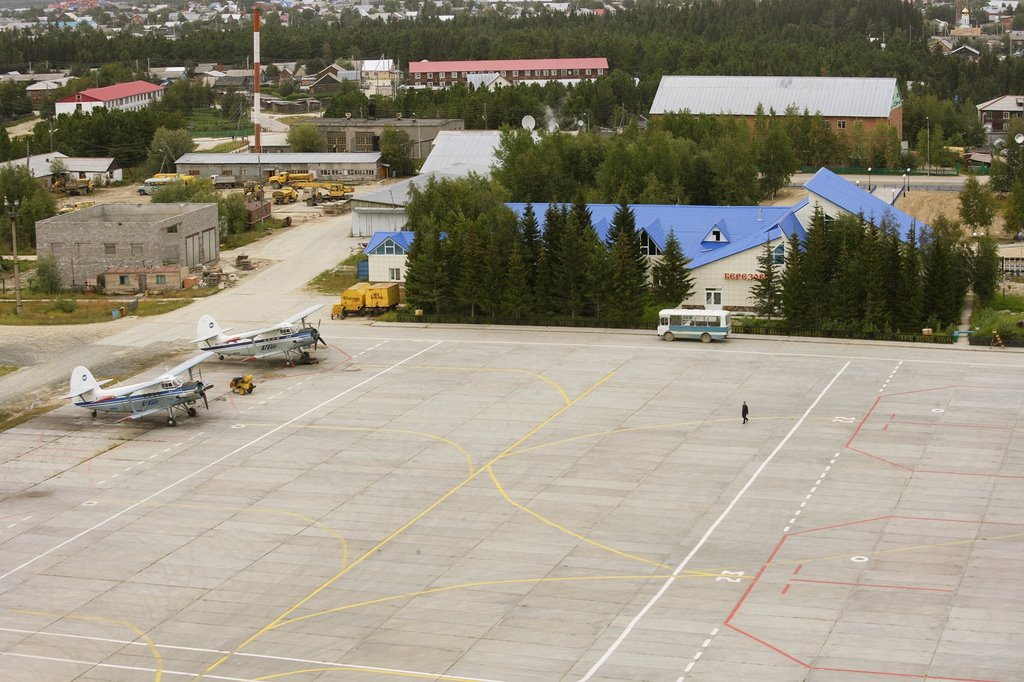 Стоянка аэропорта Берёзово