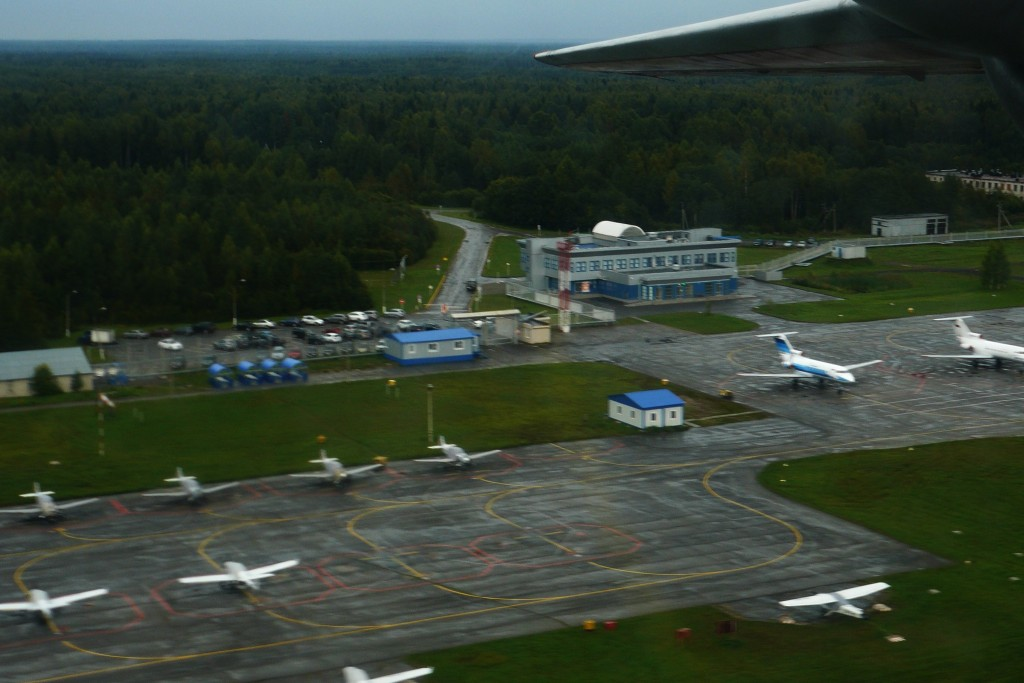 Стоянки воздушных судов аэропорта Череповец