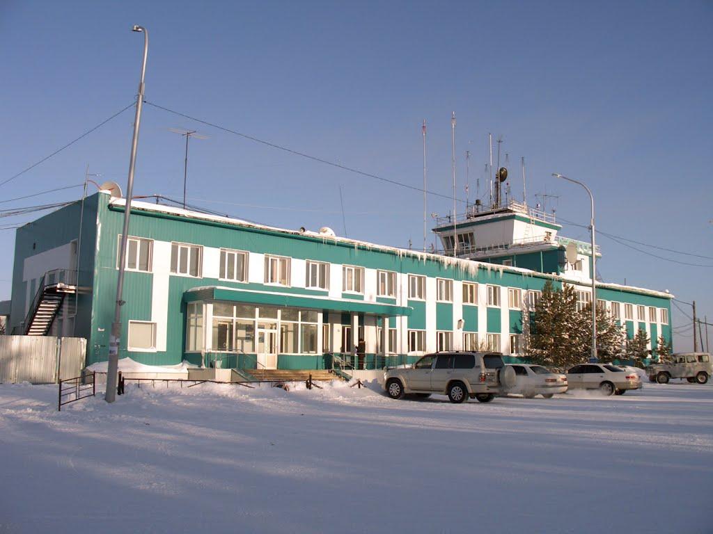 Аэропорт Ленск зимой