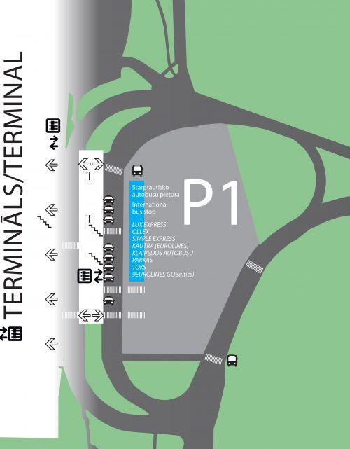 Схема парковки аэропорта Рига