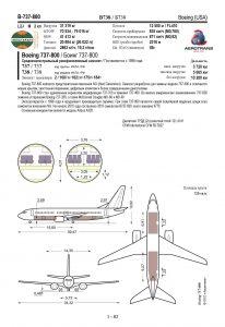 Образец страницы воздушного судна Boeing 737-800