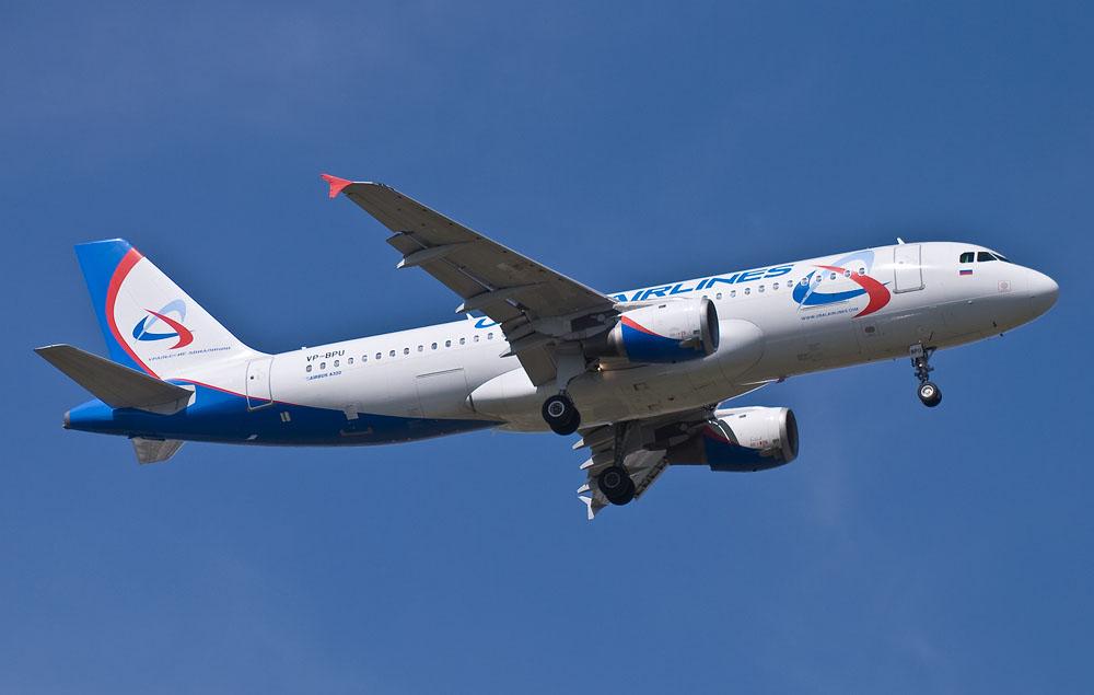 Airbus 320 авиакомпании Уральские авиалинии